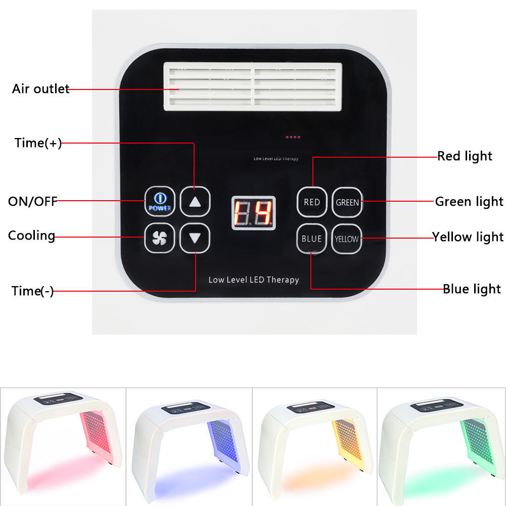 4 Color Light Photon Pdt Led Electric Facial Mask Skin