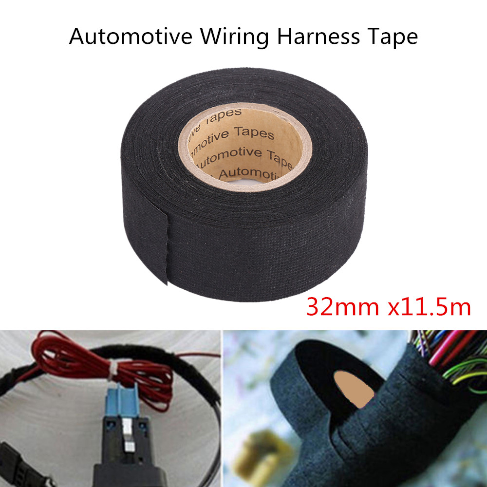 32mm X115m Multipurpose Adhesive Cloth Fabric Tape Cable Looms Wiring Harness
