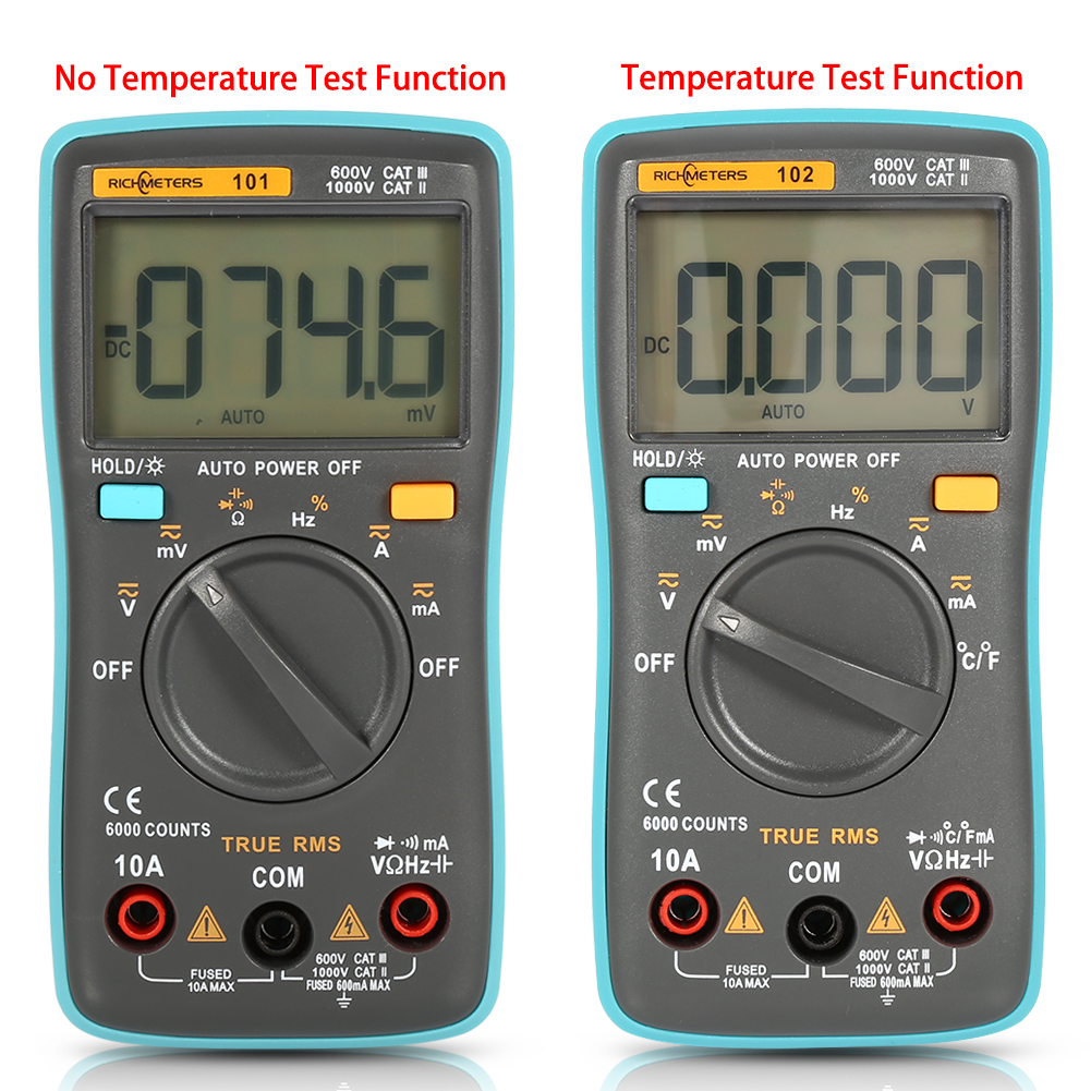 High Frequency Voltmeter : Rm digital multimeter backlight ac dc ammeter