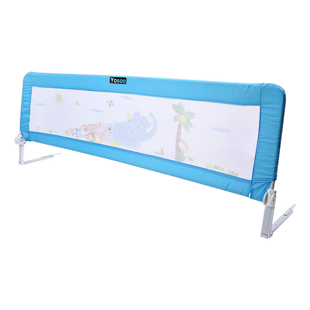Fast Shipping From UK 3 5 Days Arrival 150 Cm Child Toddler Safety Guard Infant Bed Rail Protection Folding Bedrail Blue