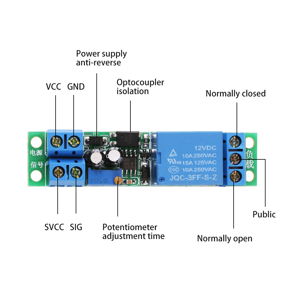 1x Dc 12v Signal Trigger Delay Turn Off Timer Switch Relay Power Circuit Module 0 25s Zz