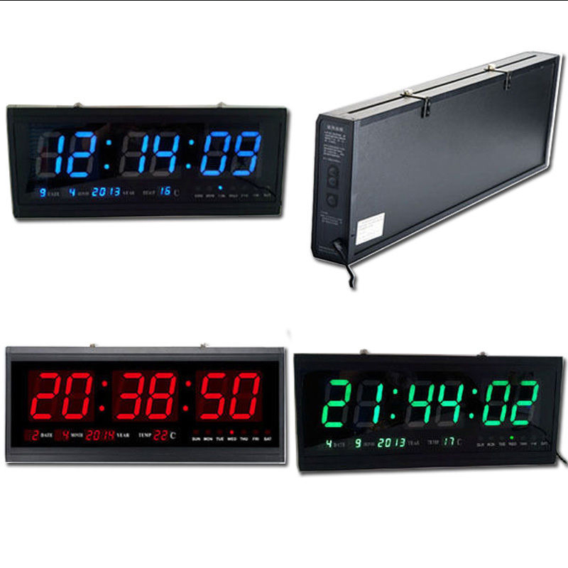 Large Led Digital Square Wall Watch Alarm Clock Calendar