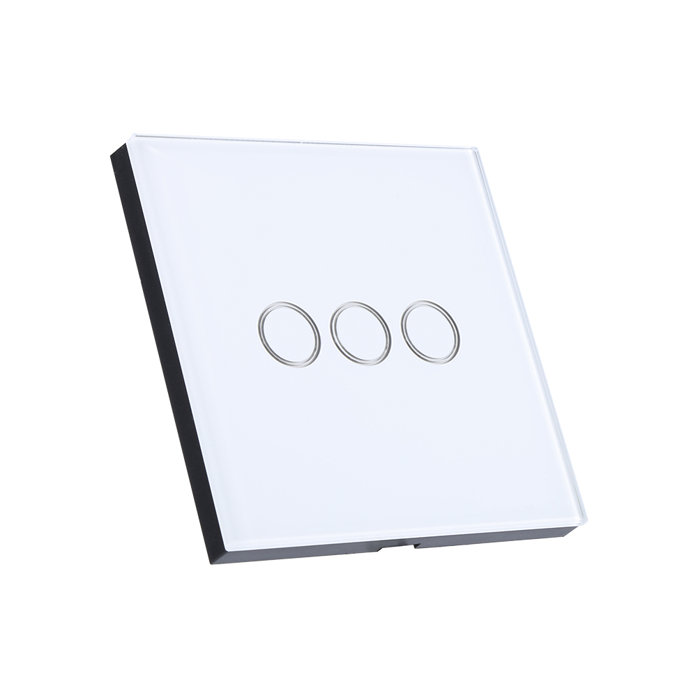 1  2  3gang led light smart wall switch wireless touch switch tempered glass panel