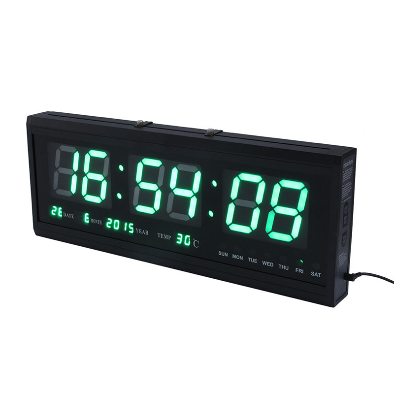 Large Led Digital Square Wall Watch Alarm Clock Calendar