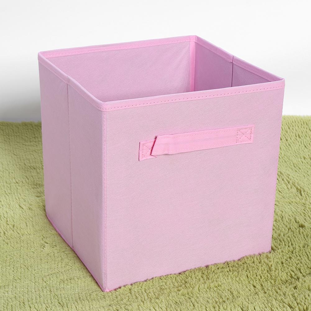 Square Collapsible Canvas Storage Box Foldable Kids Toys: 6-18Pc Foldable Square Fabric Storage Bin Collapsible Box