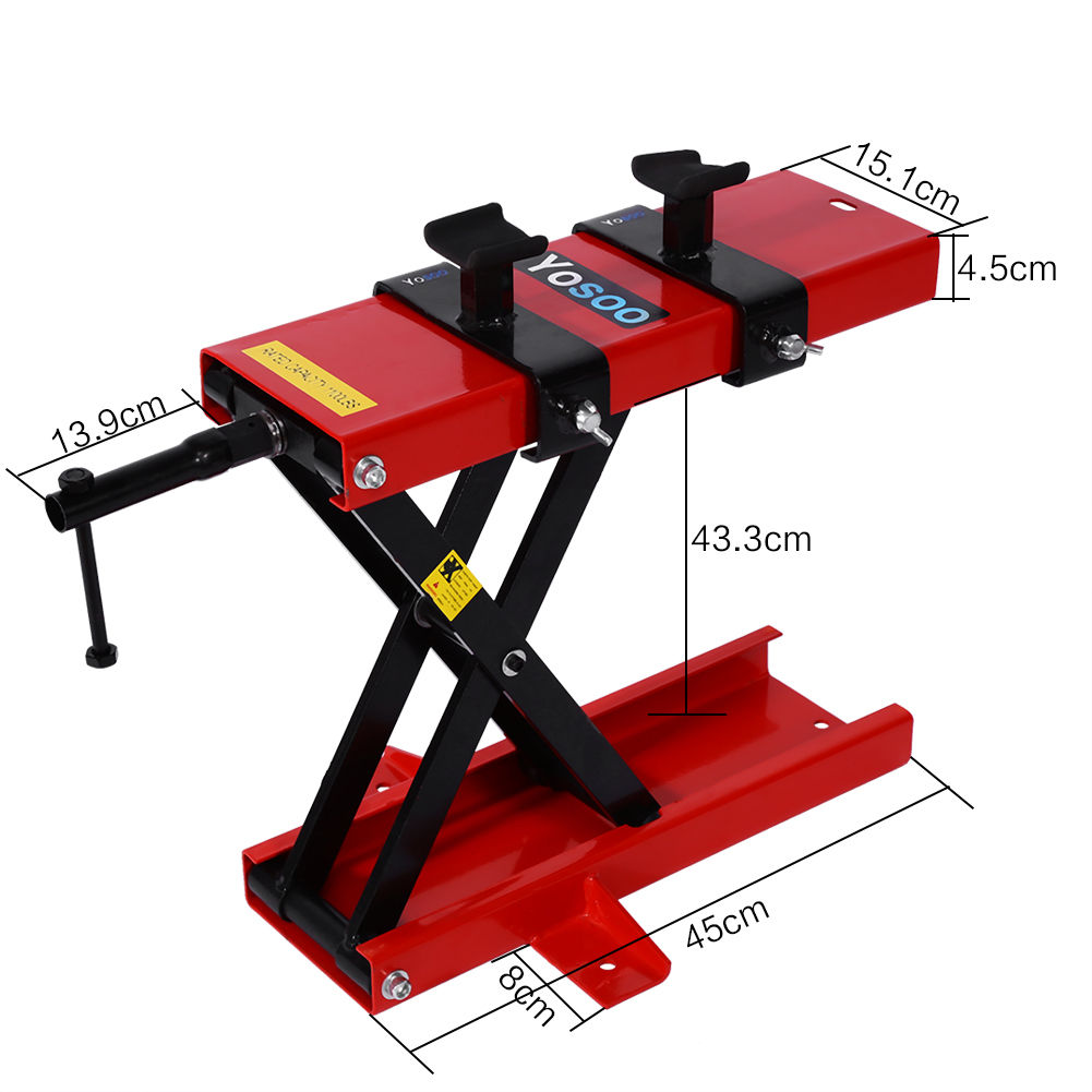 Hydraulic Motorcycle Stand : Hydraulic motorcycle lifter motorbike lift stand table