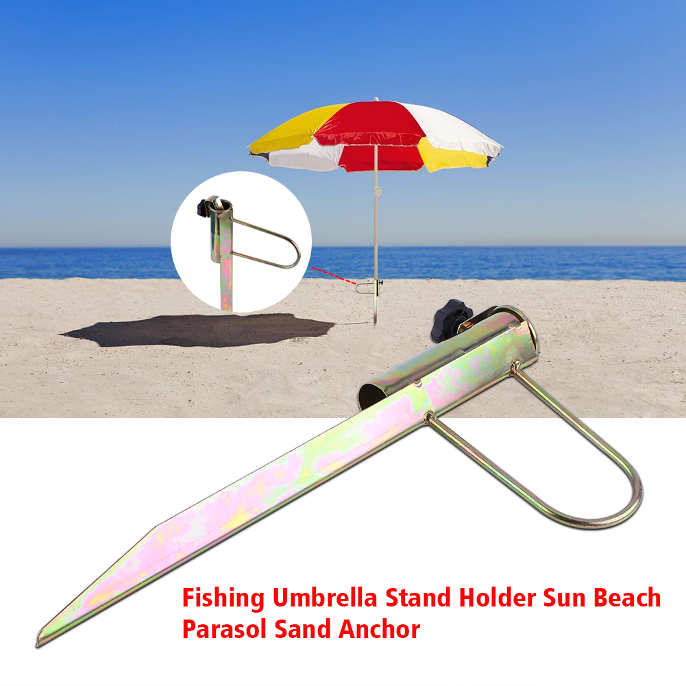 1pc iron parasol holder umbrella ground spike base beach garden Parasol Holder