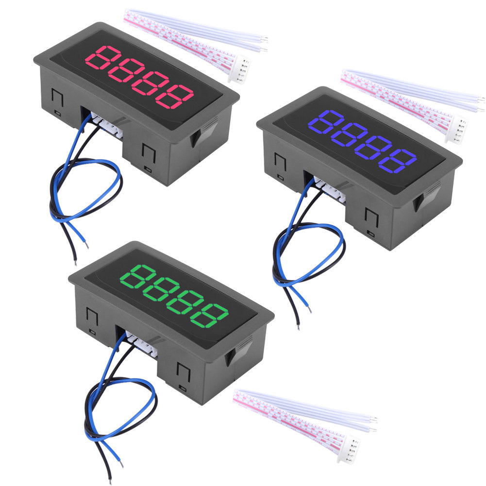 4 Digit Led Digital Counter Meter Hall Sensor Npn Relay Output Simple Magnetic Pulse Using Circuit Diagram Switch Mp