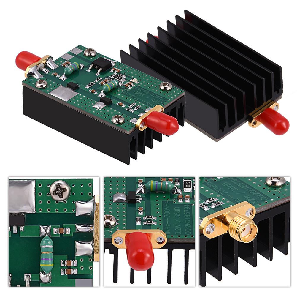 35db 1mhz 700mhz 433mhz 32w Vhf Uhf Hf Fm Rf Power Amplifier Amp With 30 Watts Radio Ham Tb