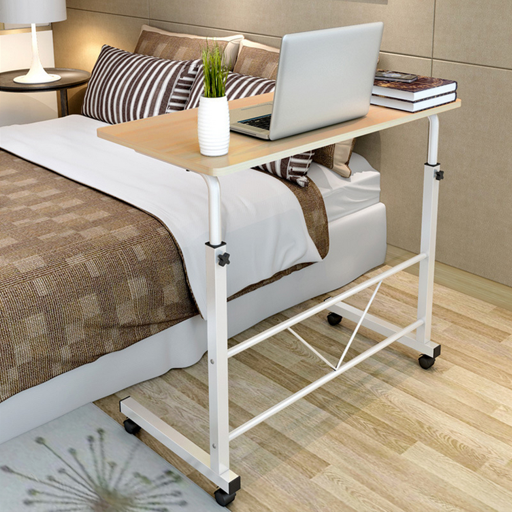 Laptop Desk Height Adjule Rolling Notebook Sofa Bedside Table Stand Usa