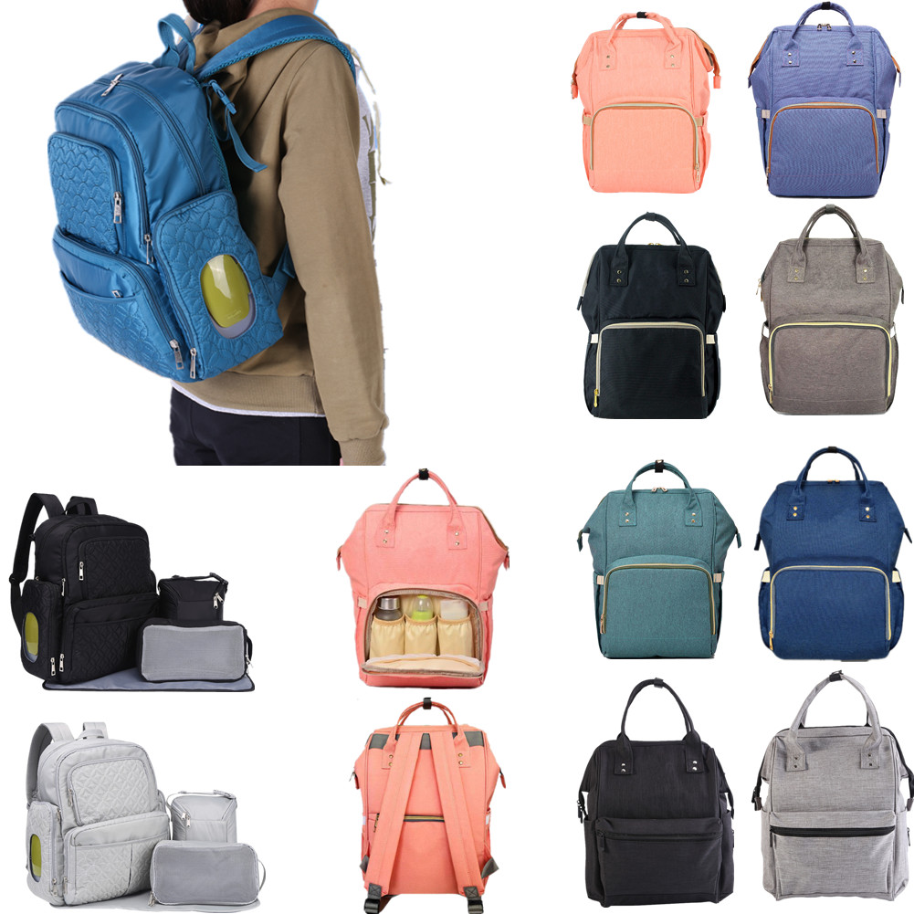 c09ad7b63e75 Large Multifunctional Baby Nappy Diaper Bag Oxford Backpack Mummy ...