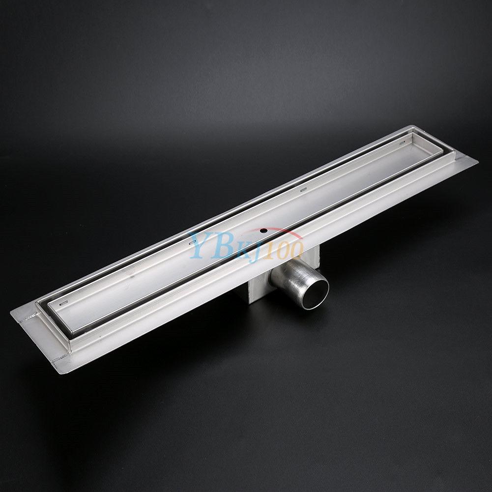 edelstahl duschrinne bodenablauf dusch ablauf 50 120cm mit siphon 7 gr en top b ebay. Black Bedroom Furniture Sets. Home Design Ideas