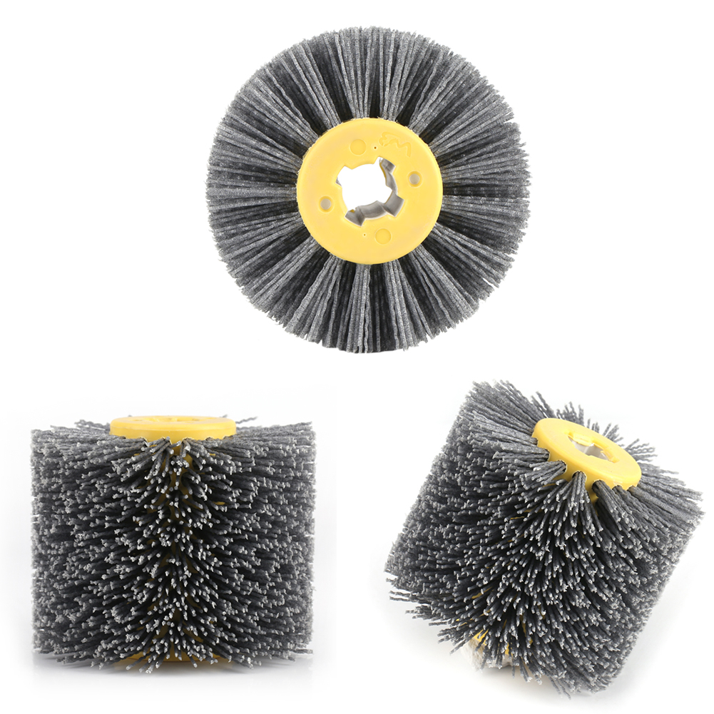 Grit 120 320 Wire Electric Drawing Wheel Brush Drum