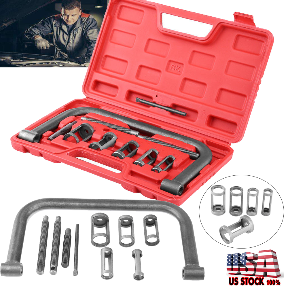 10x Valve Spring Compressor Tool Kit Set Fr Car Van Motorcycle
