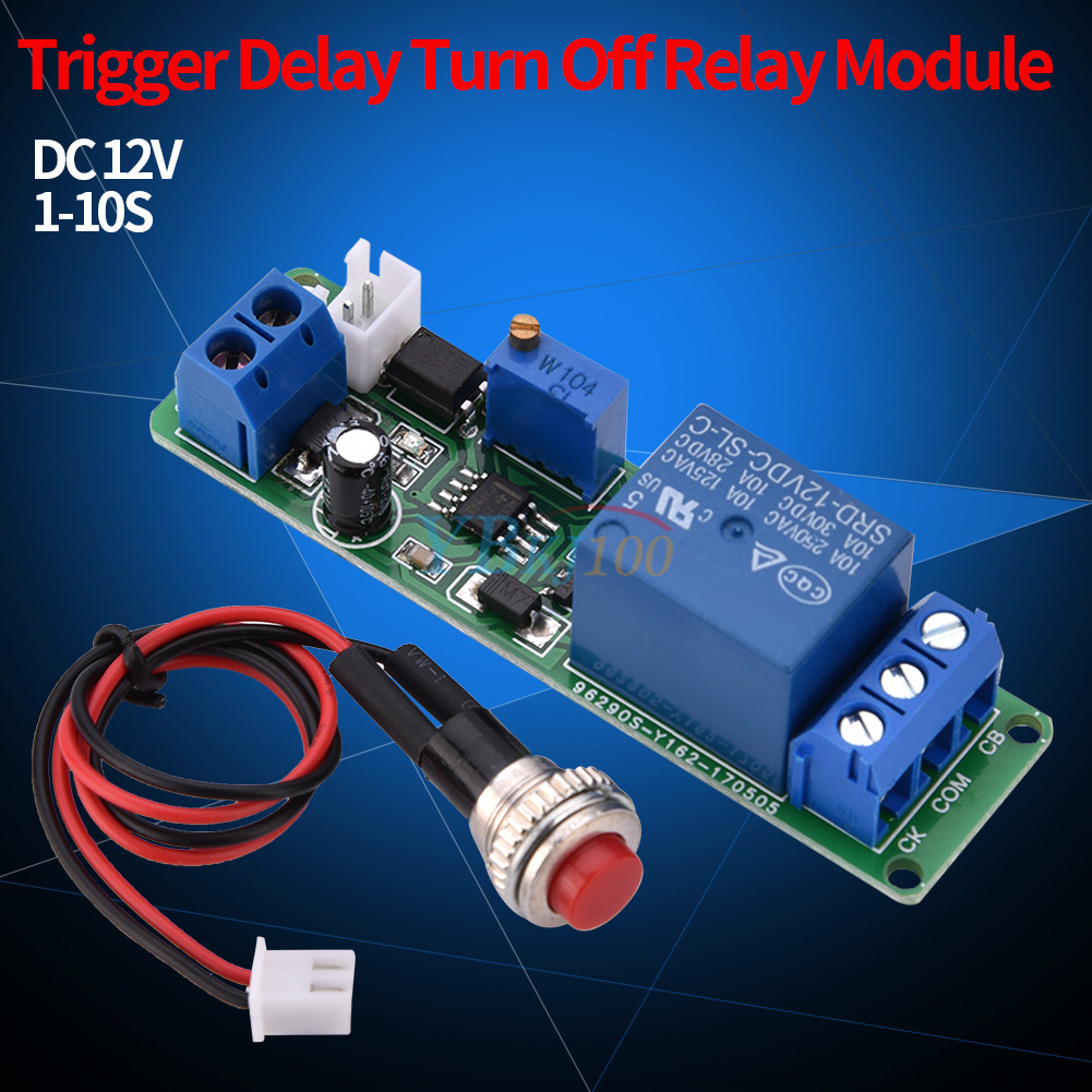 Adjustable Delay Turn Off Switch Timing Timer Time Relay