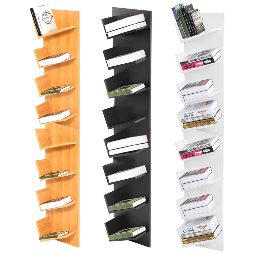 8 9 tier corner hanging shelf storage display unit wall mount bookshelf home us ebay. Black Bedroom Furniture Sets. Home Design Ideas