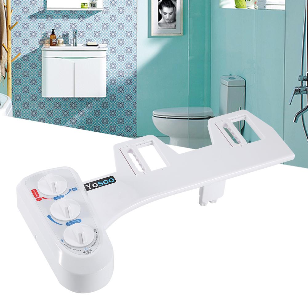 Fresh Water Spray Non-Electric Mechanical Bidet Toilet Seat ...