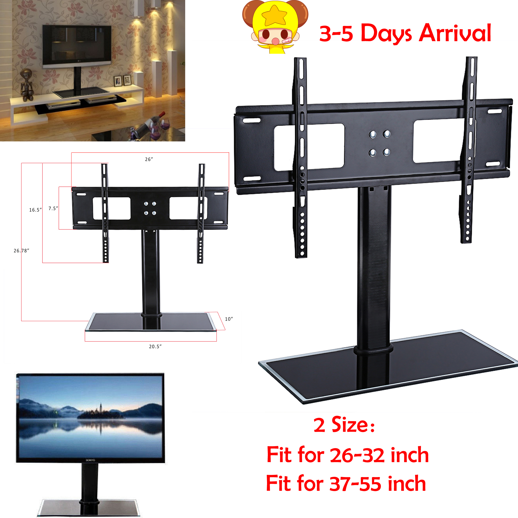 legs pedestal tv product tekbyus screws lc with base stand sharp