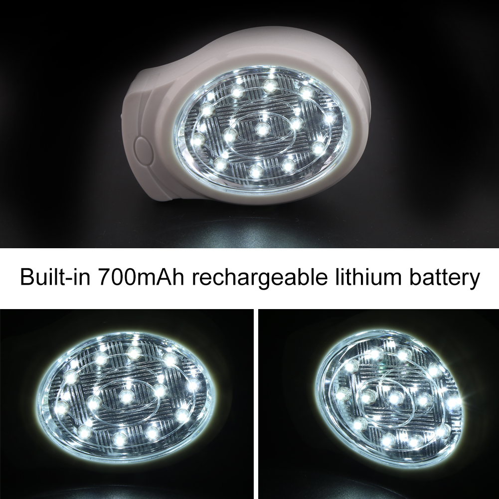 AC 110-240V 2W Rechargeable Smart Home Outdoor Emergency Lamp 13-LED White Light