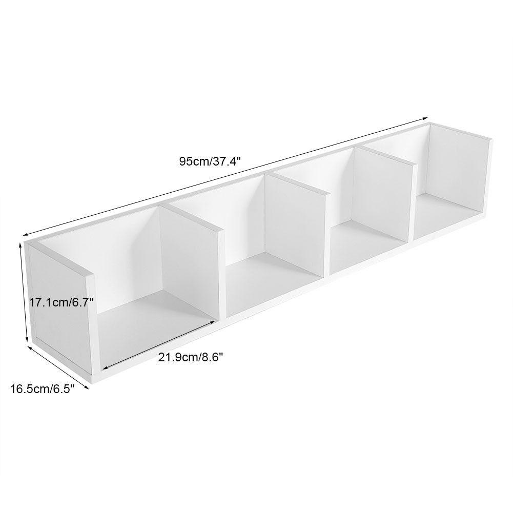 wandregal b cherregal 4er 95cm f r cd dvd medien b cher wand regal 2 farbwahl gd ebay. Black Bedroom Furniture Sets. Home Design Ideas