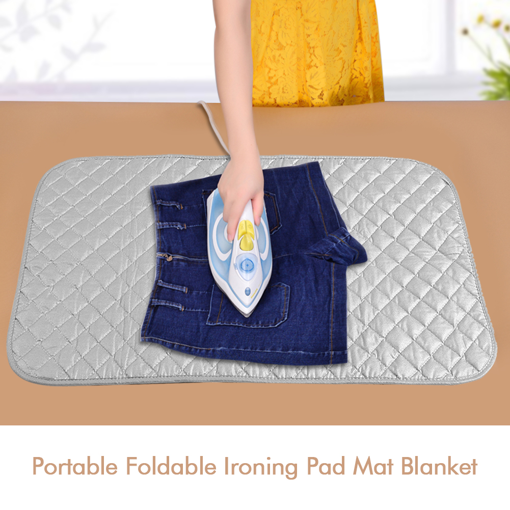 Foldable Ironing Pad Mat Blanket For Table Top Travelling Ironing Board  48*85cm