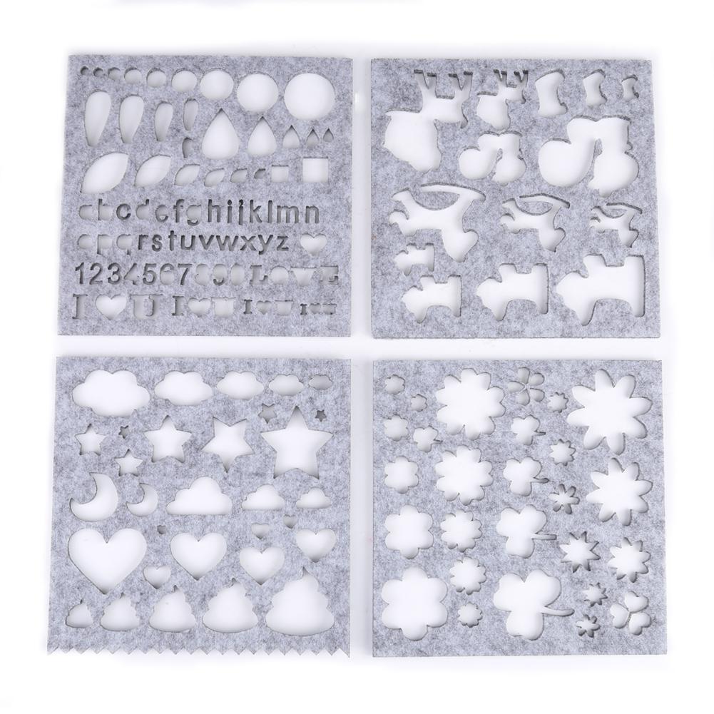 Wixine 1Set Needle Felting Applique Mold Handicraft Wool Felt Woolen Shaping Mould DIY