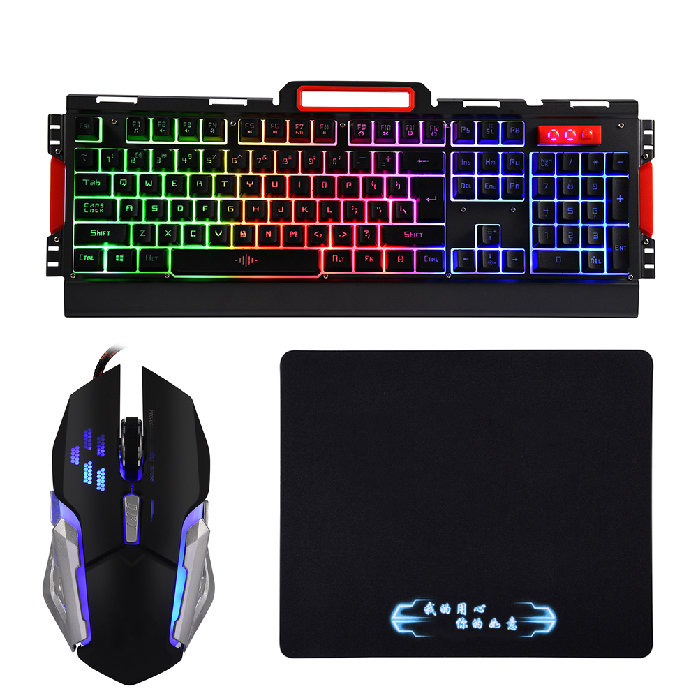 Mouse Pad Wired LED Backlit Usb Ergonomic Gaming Keyboard Gamer Mouse Sets