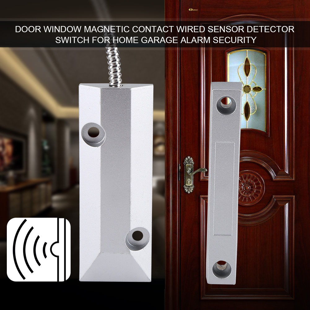 Magnetic Contact Wired Sensor Detector Switch For Home Garage Alarm
