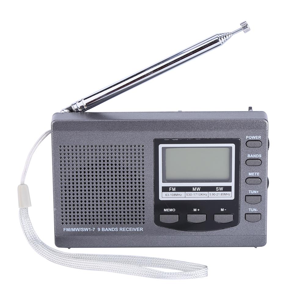 mini portable fm mw sw radio digital alarm clock full band. Black Bedroom Furniture Sets. Home Design Ideas