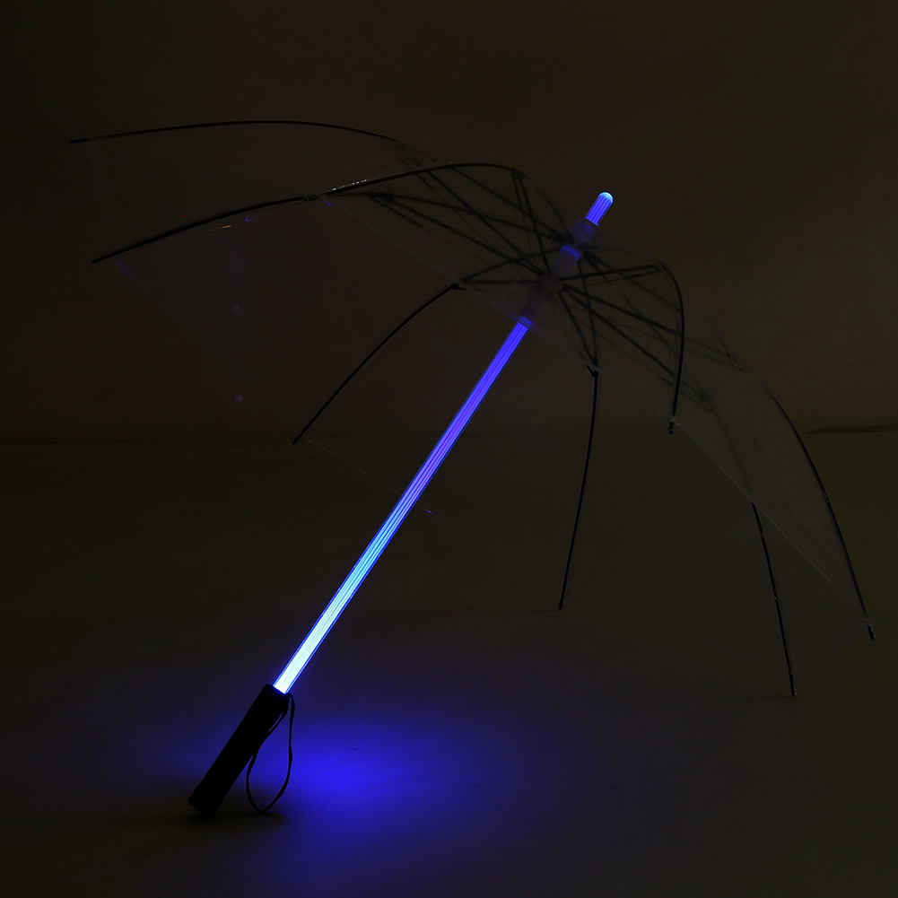 Led Umbrella Features: Battery Powered 7 Color Changing LED Umbrella Flashlight