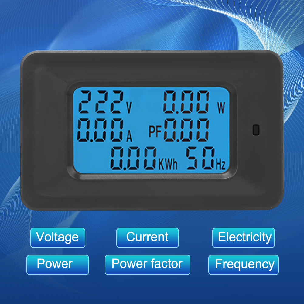 6 IN 1 Digital AC Voltage Meter 100A/20A 110~250V Energy Meter ...