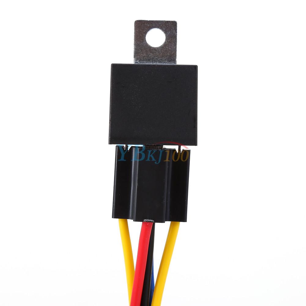 5x 12v 12 volt dc 40a amp relay socket spdt 5pin 5 wire. Black Bedroom Furniture Sets. Home Design Ideas