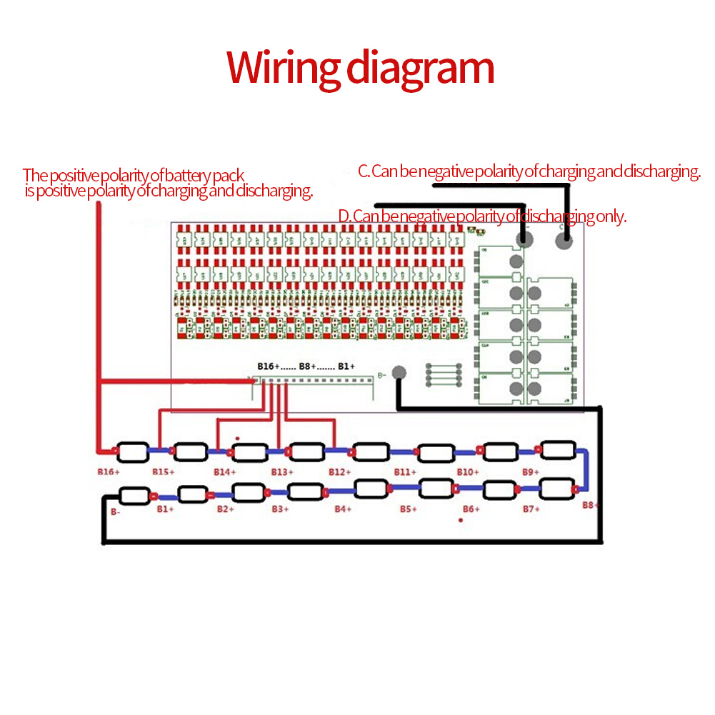 30a 16s 48v Lifepo4 60v Lithium Polymer Battery Bms Protection Board B6 And B7 Headlight Wiring Diagram Balance Tp