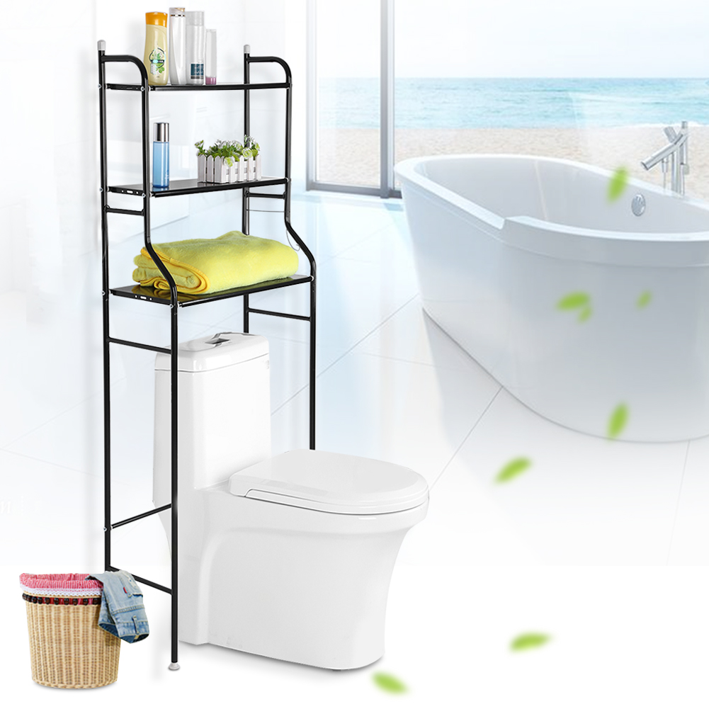 Freestanding over toilet cabinet storage unit space saver for Chapter bathroom space saver white assembly instructions