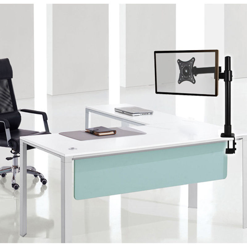 New Single Dual Arm Monitor Desk Mount Computer Tv Screen