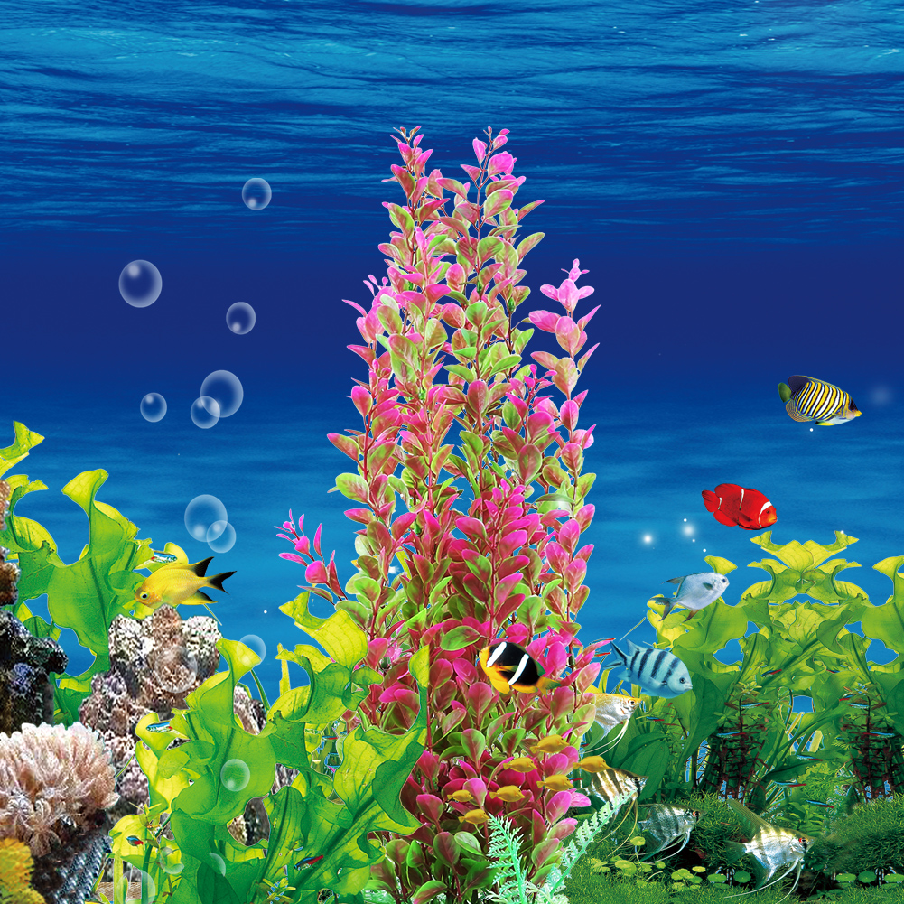 Artificial Plastic Water Grass Underwater Plants Fish Tank Aquarium