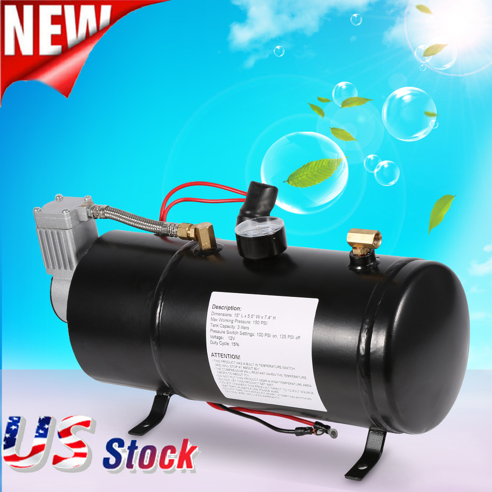 150psi dc 12v truck pickup on board air horn air compressor with 3 150psi dc 12v truck pickup on board air horn air compressor with 3 liter tank us fandeluxe Images