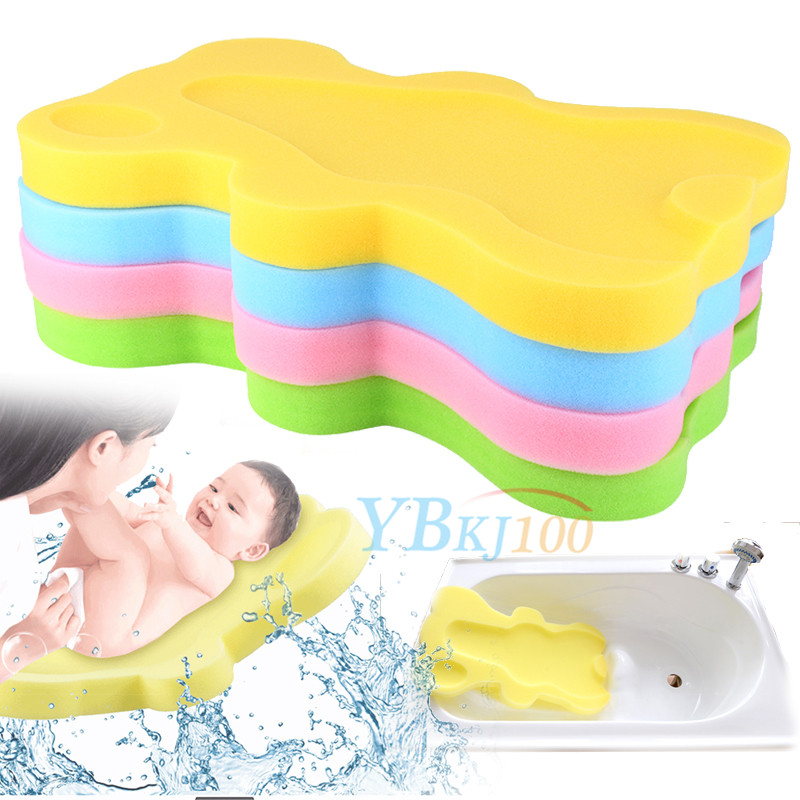 Baby Infant Bath Sponge Support Safety Aid Bathing Foam Comfort Non ...