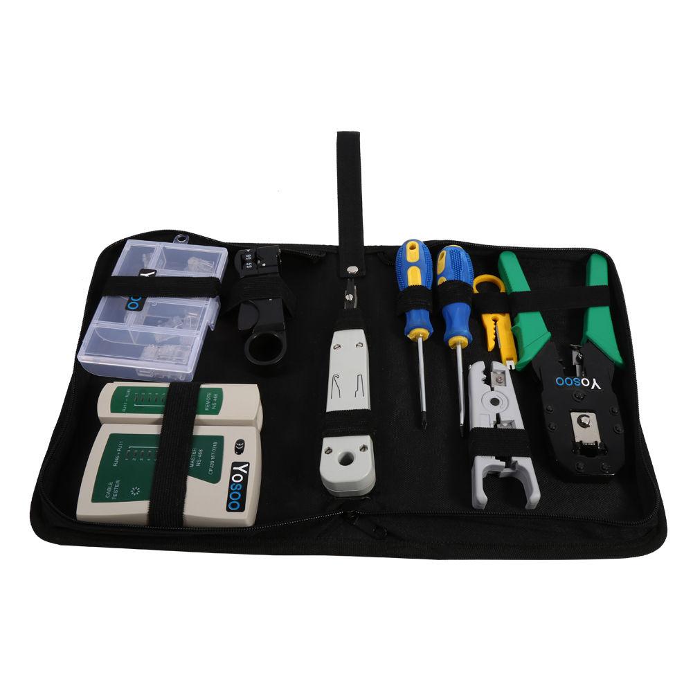 9in1 netzwerk werkzeug set crimpzange lan lsa kabeltester drahtschneider bg 05 ebay. Black Bedroom Furniture Sets. Home Design Ideas