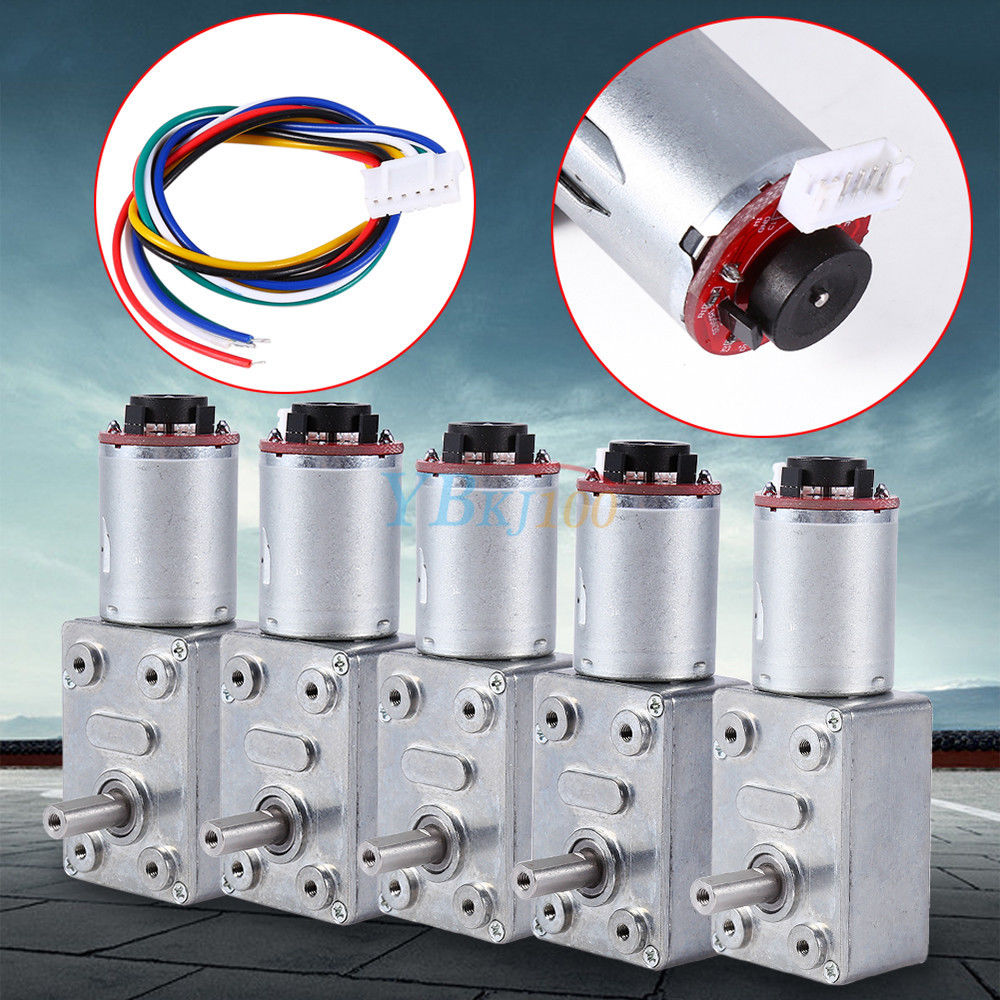 30RPM Reduction Motor,with Encoder Srong Self-Locking,Rotate and Reversal DC 12V Gear Motor,Worm Gear Motor,High Torque