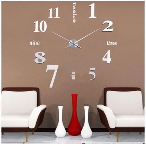 design wand uhr wohnzimmer wanduhr spiegel wandtattoo deko xxl 3d stylisch go 06 ebay. Black Bedroom Furniture Sets. Home Design Ideas