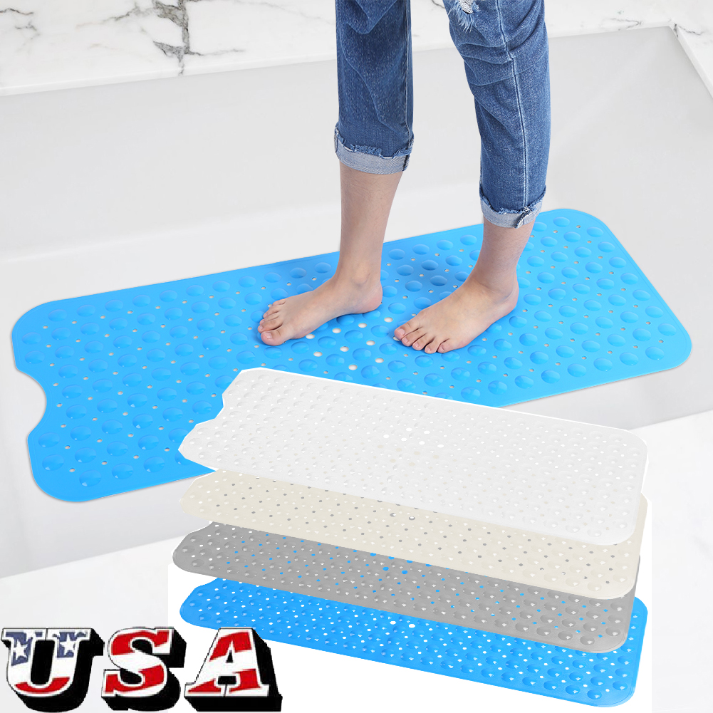 Antibacterial Cushioned Waffle Non-slip PVC Foam Bath Tub Mat Secure ...