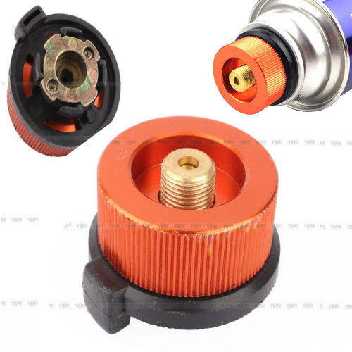 Useful Conversion Head Gas Tank Bottle Adaptor Stove Burner Connector Parts YI