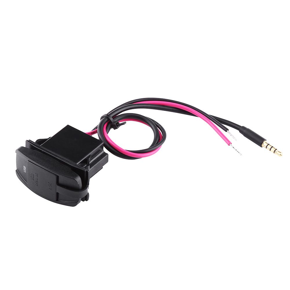 Car Dash Flush Mount Usb Port 35mm Aux Extension Cable Lead Wiring Details