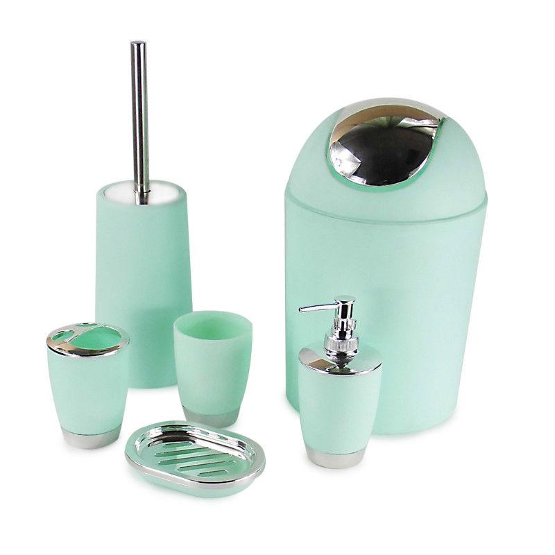 Details zu 6 Stk Badset Badezimmer Set Bad Seifenspender WC Bürste  Badgarnitur DHL