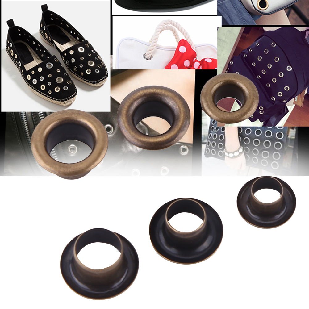 100 Eyelets Grommets Washers in 4mm in Black Repair Leather Craft Scrapbook