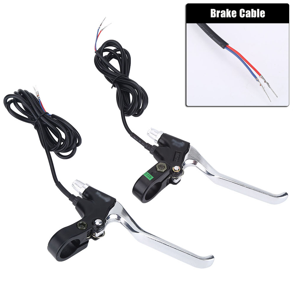 1 Pair Durable 2 Wires Left/&Right E-Bike Bicycle Electric Brake Lever Replacement Parts Brake Lever Set