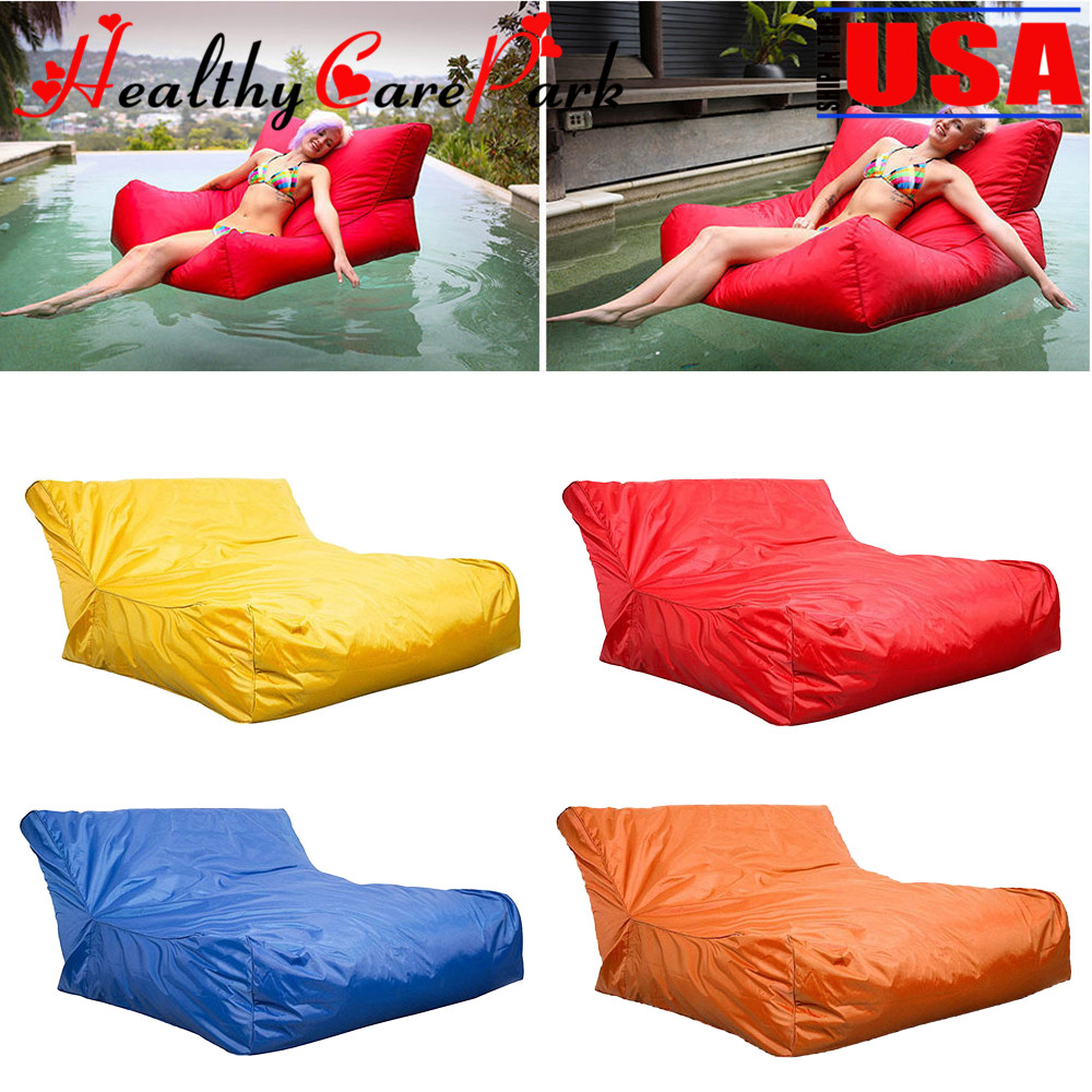 Awesome Details About Swimming Pool Floating Bean Bag Indoor Outdoor Waterproof Lounge Chair Sofa Caraccident5 Cool Chair Designs And Ideas Caraccident5Info