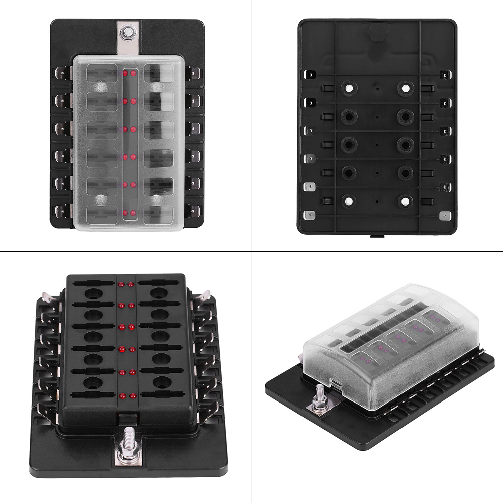 12 Way Car Boat Rv Terminal Circuit Blade Fuse Box Standard Ato Atc Block Holder