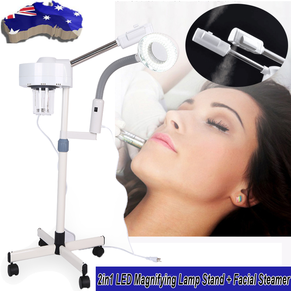 3X Magnifying Led Lamp Stand Facial Steamer Spray Beauty